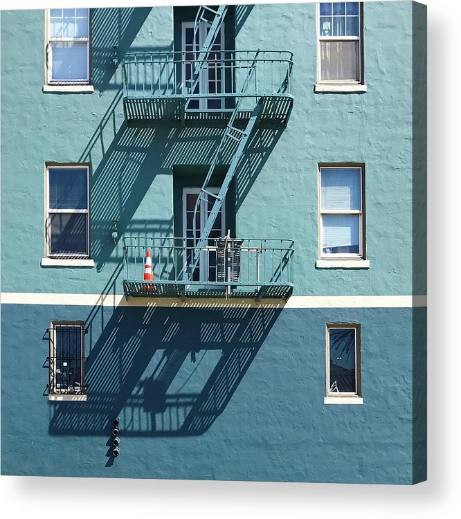 Acrylic Print featuring the photograph Two Blues by Julie Gebhardt