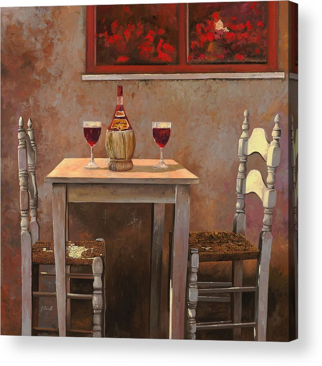 Chianti Acrylic Print featuring the painting un fiasco di Chianti by Guido Borelli