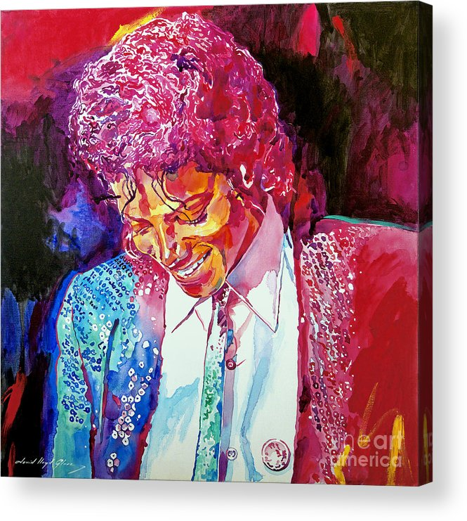 Michael Jackson Acrylic Print featuring the painting Young Michael Jackson by David Lloyd Glover
