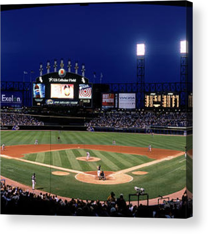American League Baseball Acrylic Print featuring the photograph Indians V White Sox by Jerry Driendl