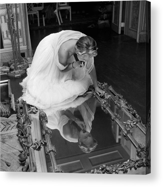 People Acrylic Print featuring the photograph Make Up Mirror by Thurston Hopkins