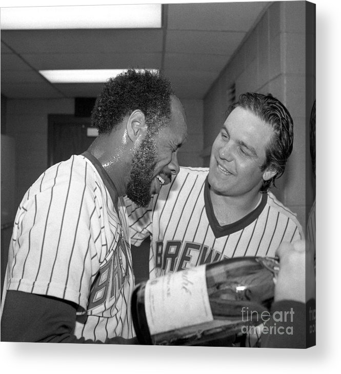 1980-1989 Acrylic Print featuring the photograph Milwaukee Brewers Win The American by Bettmann