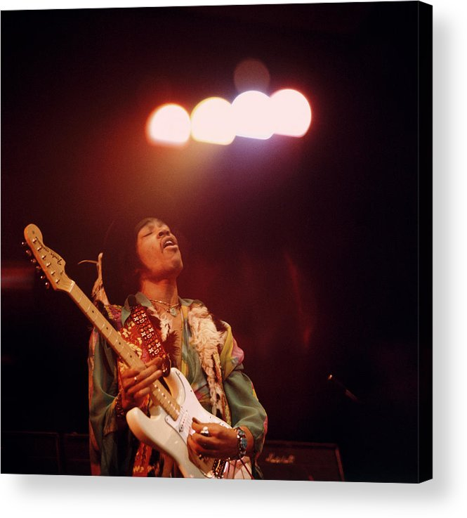Music Acrylic Print featuring the photograph Photo Of Jimi Hendrix by David Redfern
