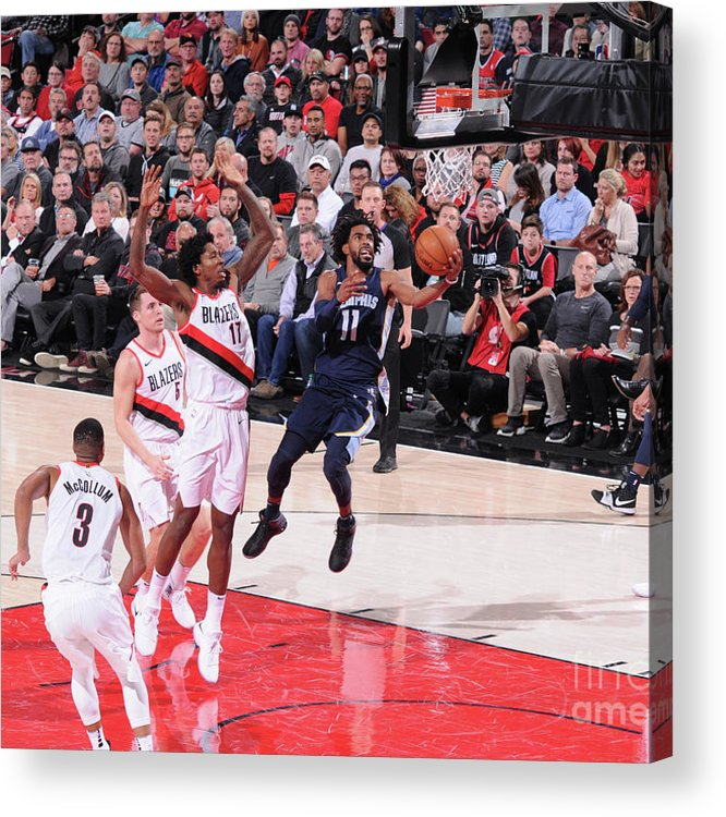 Nba Pro Basketball Acrylic Print featuring the photograph Memphis Grizzlies V Portland Trail by Sam Forencich