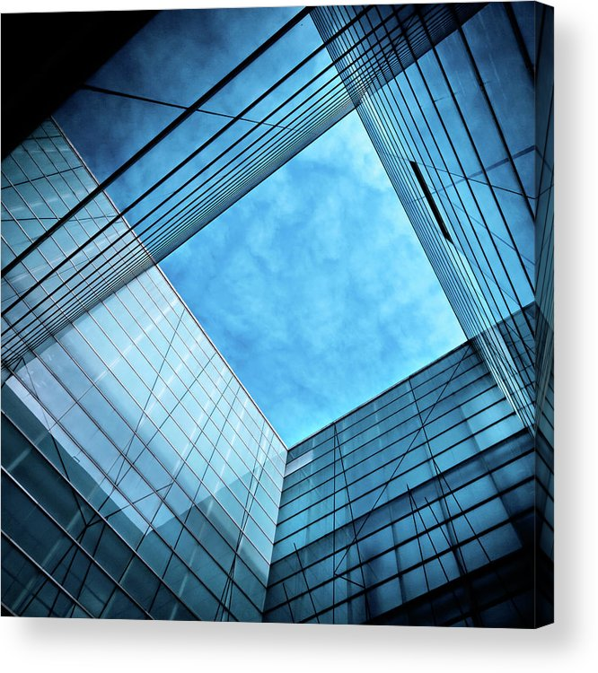 Office Acrylic Print featuring the photograph Modern Glass Architecture by Nikada