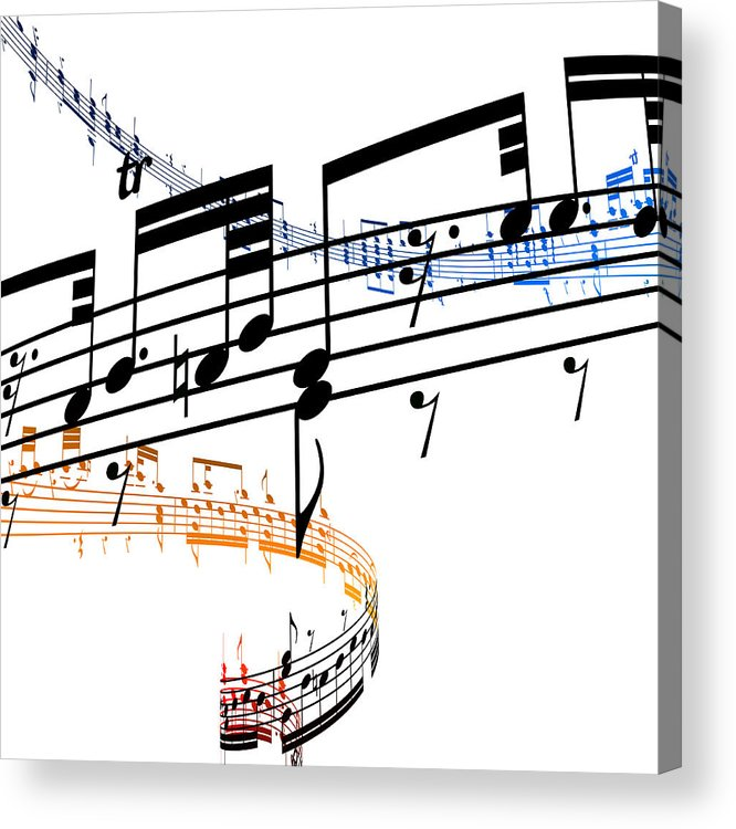 Sheet Music Acrylic Print featuring the digital art A Stave Of Music by Ian Mckinnell