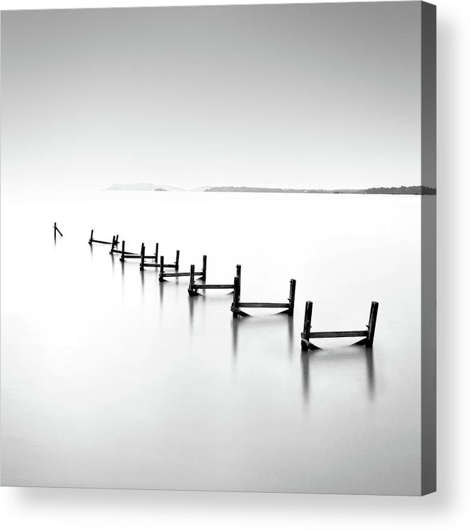 Tranquility Acrylic Print featuring the photograph Abandond Jetty by Photography By Azrudin