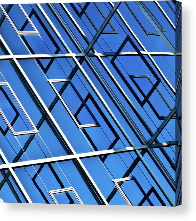 Outdoors Acrylic Print featuring the photograph Abstract Geometric Reflection by By Fabrice Geslin
