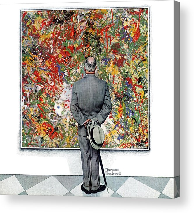 Art Acrylic Print featuring the drawing Art Connoisseur by Norman Rockwell