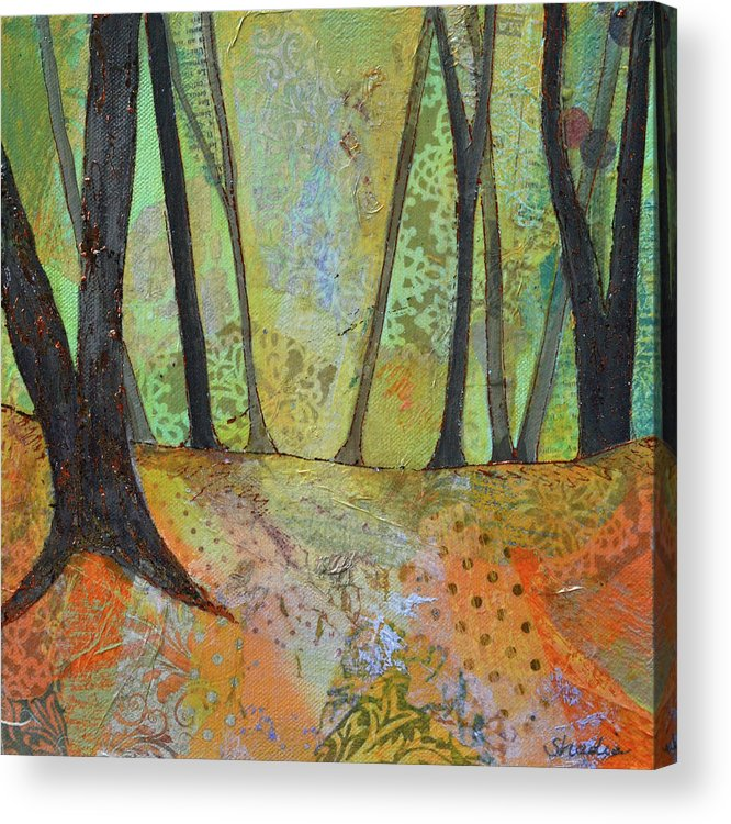 Autumn Acrylic Print featuring the painting Autumn's Arrival I by Shadia Derbyshire