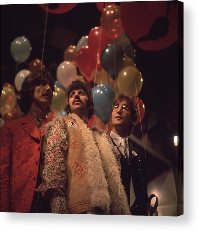 Rock Music Acrylic Print featuring the photograph Beatles And Balloons by John Williams