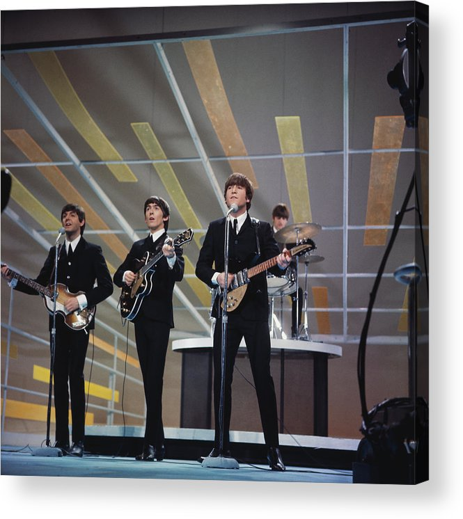 Singer Acrylic Print featuring the photograph Beatles On Us Tv by Paul Popper/popperfoto