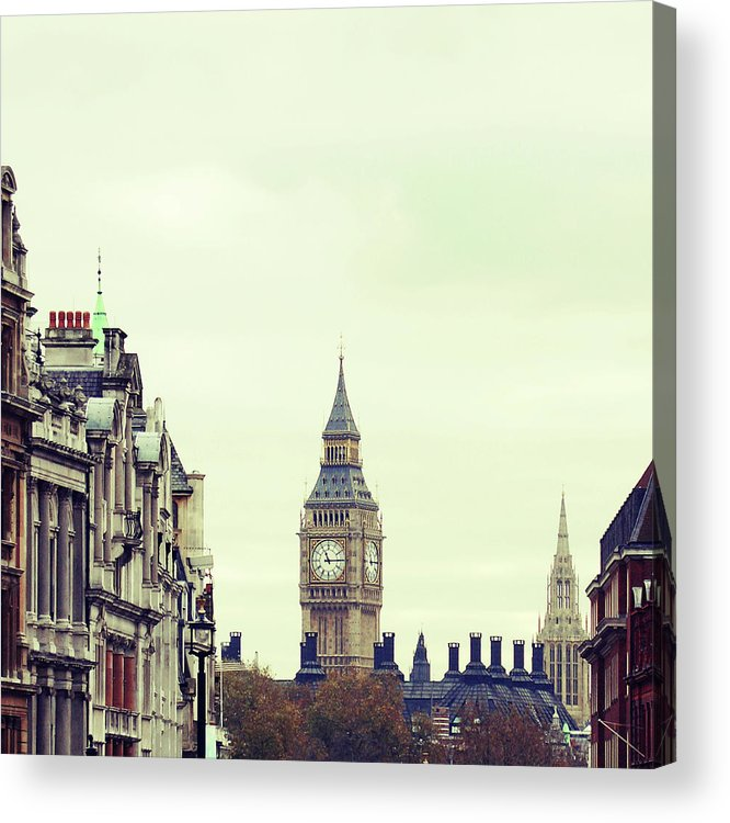 Clock Tower Acrylic Print featuring the photograph Big Ben As Seen From Trafalgar Square by Image - Natasha Maiolo