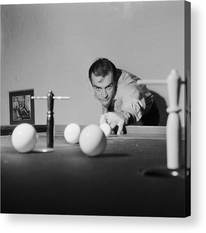 Sean Connery Acrylic Print featuring the photograph Billiard Bond by Chris Ware
