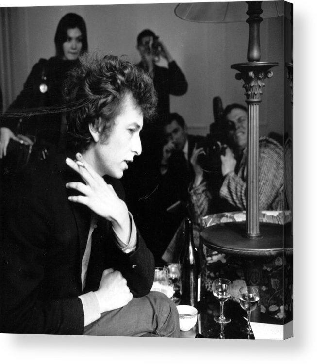 Rock Music Acrylic Print featuring the photograph Bob Dylan 1965 by Evening Standard