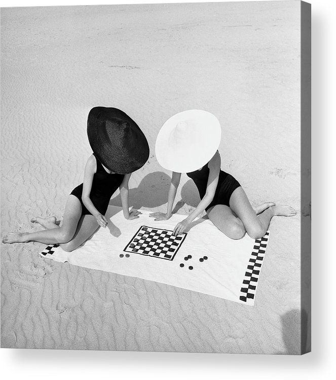 People Acrylic Print featuring the photograph Checkers On The Beach by Jack Robinson