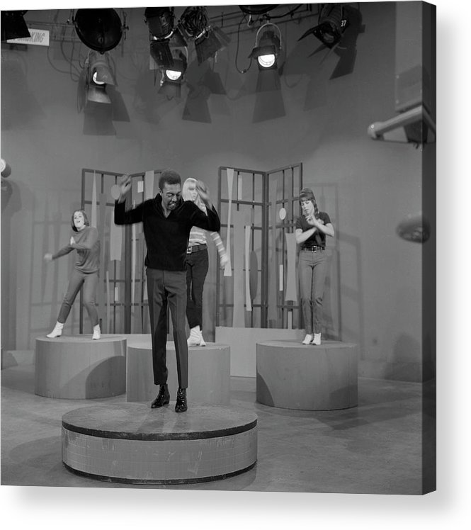 Singer Acrylic Print featuring the photograph Jimmy Lewis Performs by Michael Ochs Archives