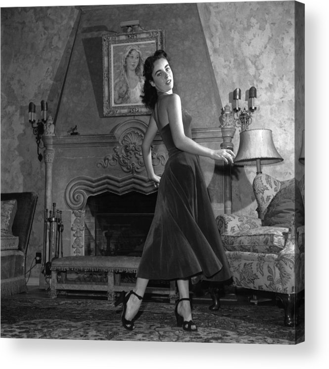 Elizabeth Taylor Acrylic Print featuring the photograph Liz Taylor by Archive Photos