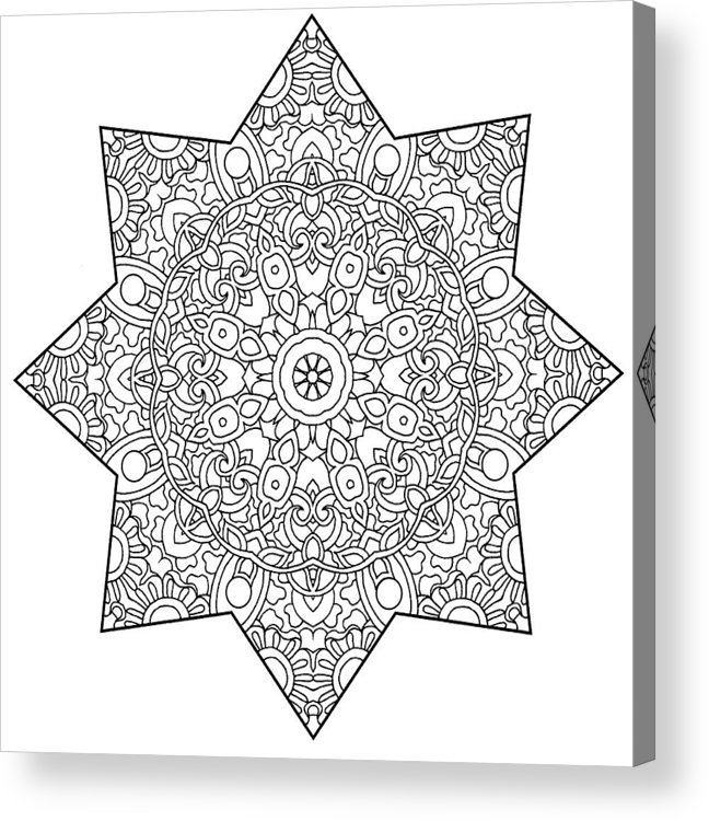 Coloring Books Acrylic Print featuring the drawing Mixed Coloring Book 1 by Kathy G. Ahrens