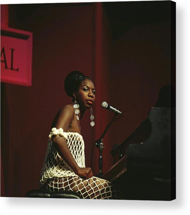 Nina Simone Acrylic Print featuring the photograph Nina Simone by David Redfern