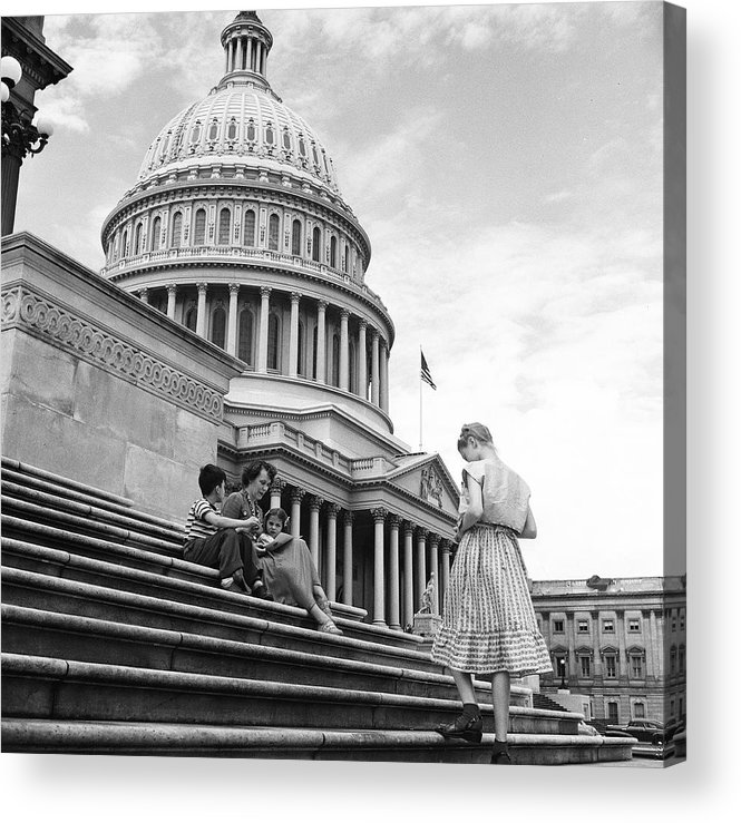 Sibling Acrylic Print featuring the photograph Outside The Capitol by Rae Russel
