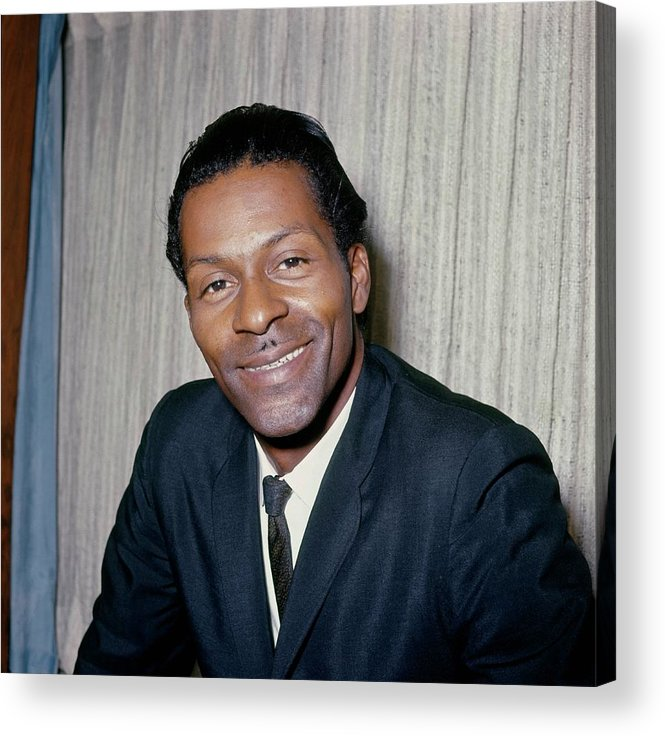 People Acrylic Print featuring the photograph Photo Of Chuck Berry by Ca