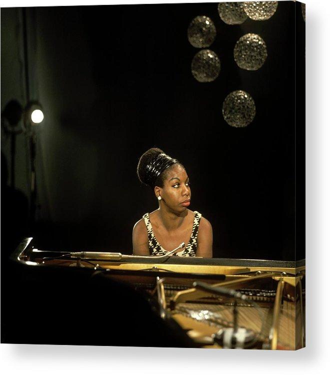 Nina Simone Acrylic Print featuring the photograph Photo Of Nina Simone by David Redfern