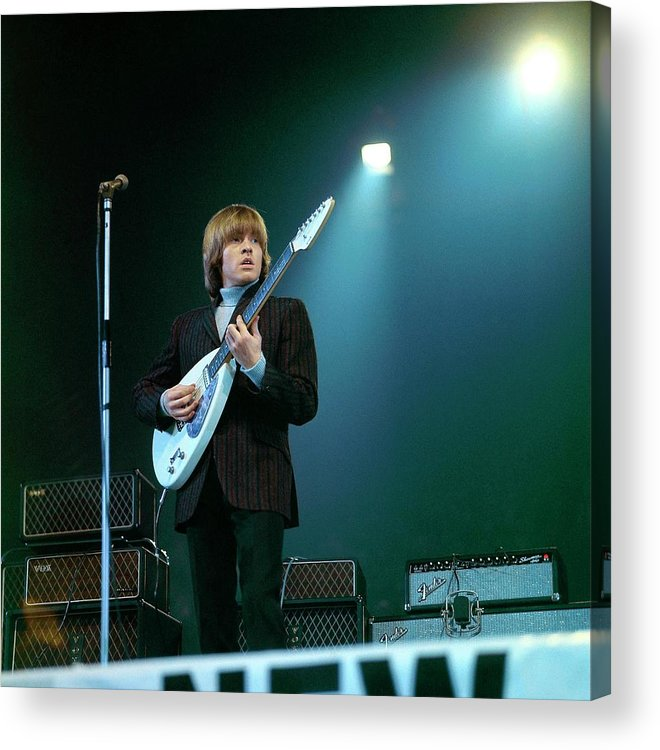 Guitarist Acrylic Print featuring the photograph Photo Of Vox Guitars And Brian Jones by David Redfern