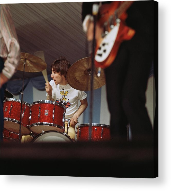 Music Acrylic Print featuring the photograph Photo Of Who And Keith Moon by David Redfern