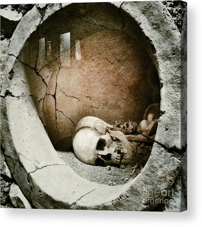 Horror Acrylic Print featuring the photograph Skull by Temizyurek