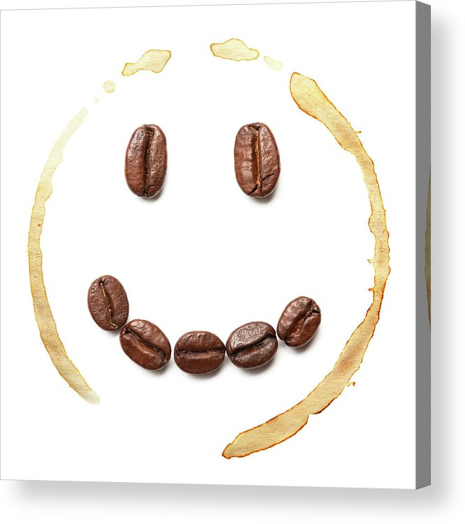 Spray Acrylic Print featuring the photograph Smile Coffee Beans by T kimura
