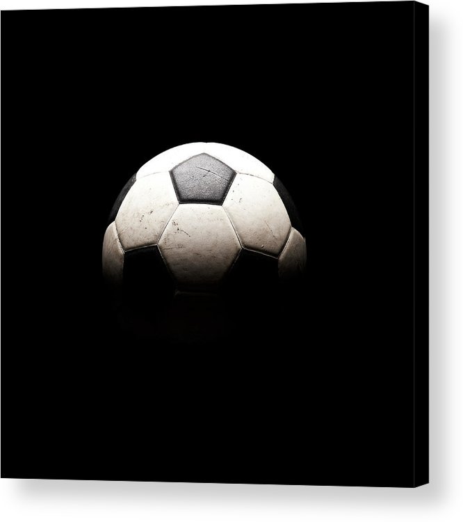 Shadow Acrylic Print featuring the photograph Soccer Ball In Shadows by Thomas Northcut