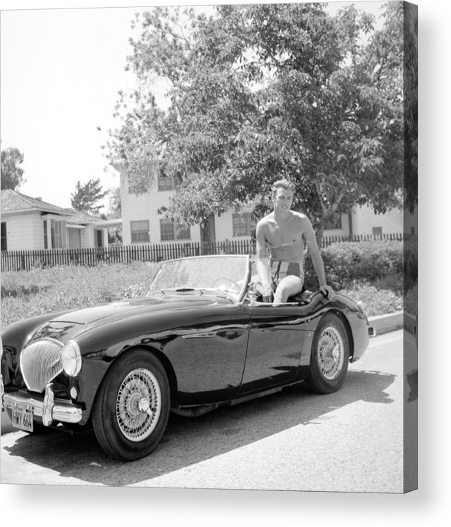 People Acrylic Print featuring the photograph Sportscar by Michael Ochs Archives