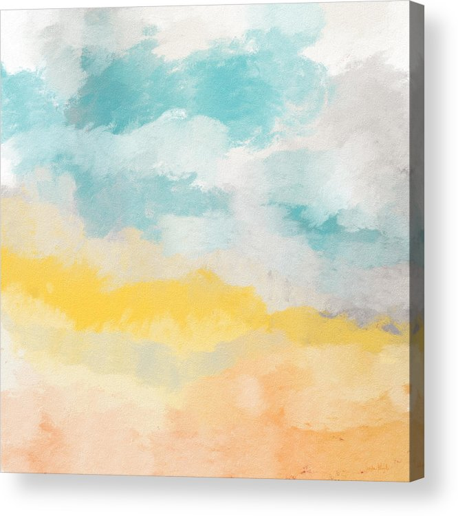 Landscape Acrylic Print featuring the mixed media Sunshine Day- Art by Linda Woods by Linda Woods