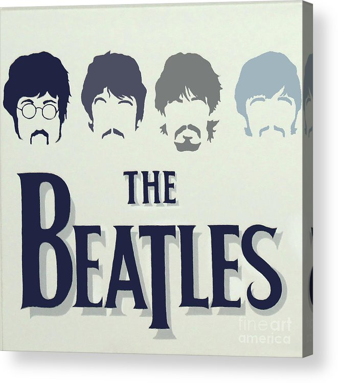 The Beatles. The Fab Four Acrylic Print featuring the painting The Beatles by Amy Belonio