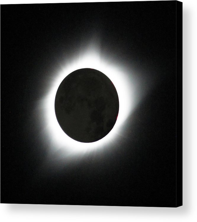 Solar Eclipse Acrylic Print featuring the photograph The great American Eclipse by Nunzio Mannino