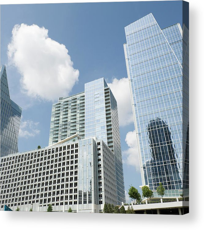 Atlanta Acrylic Print featuring the photograph Three Modern Buildings In Different by Ajansen