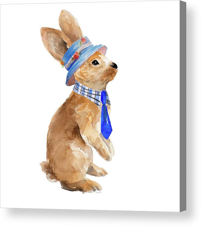 Trendy Acrylic Print featuring the painting Trendy Meadow Buddy I (tie) by Lanie Loreth