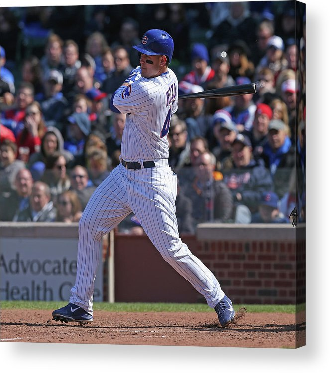 National League Baseball Acrylic Print featuring the photograph Anthony Rizzo by Jonathan Daniel