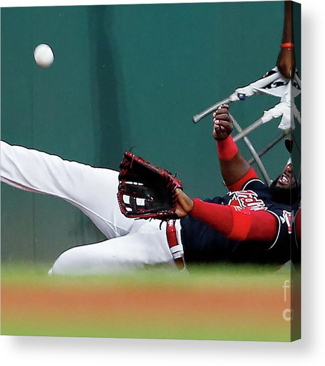People Acrylic Print featuring the photograph Abraham Almonte and Eric Hosmer by Ron Schwane
