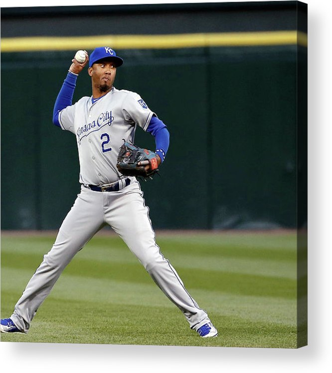 Second Inning Acrylic Print featuring the photograph Alcides Escobar by Jon Durr