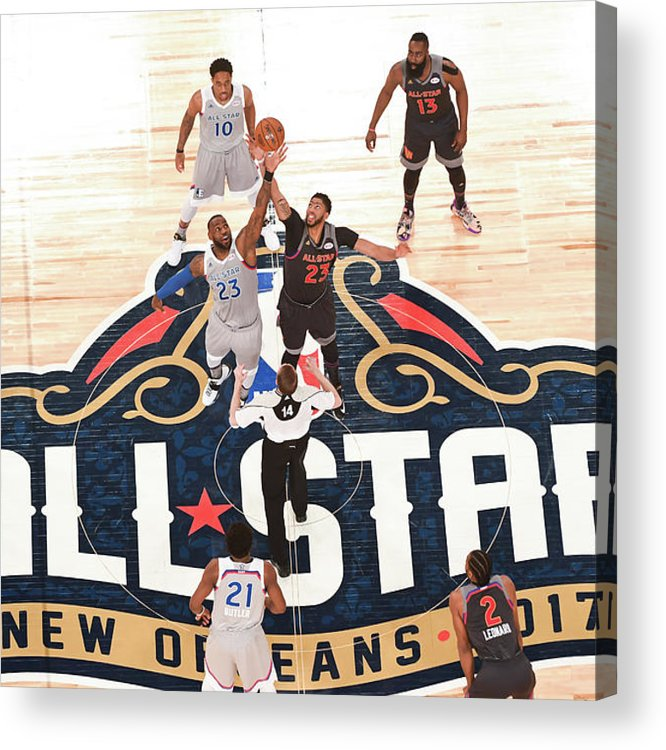 Event Acrylic Print featuring the photograph Anthony Davis and Lebron James by Garrett Ellwood