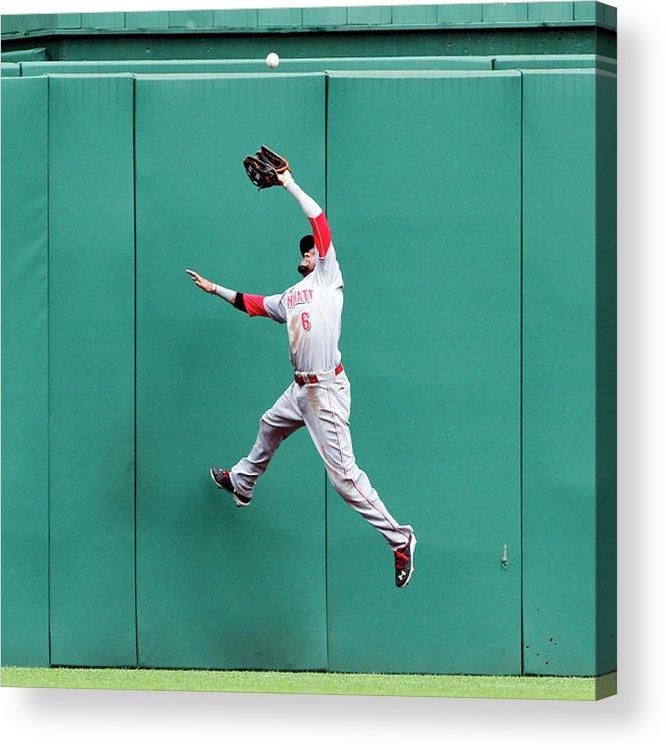 Toughness Acrylic Print featuring the photograph Billy Hamilton and Travis Snider by Justin K. Aller