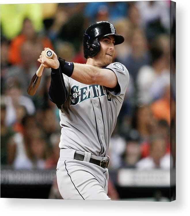 American League Baseball Acrylic Print featuring the photograph Brad Miller by Bob Levey