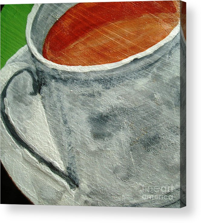Coffee Acrylic Print featuring the painting Cafe' Con Leche by Reina Resto