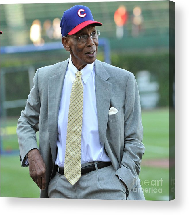 People Acrylic Print featuring the photograph Ernie Banks by David Banks