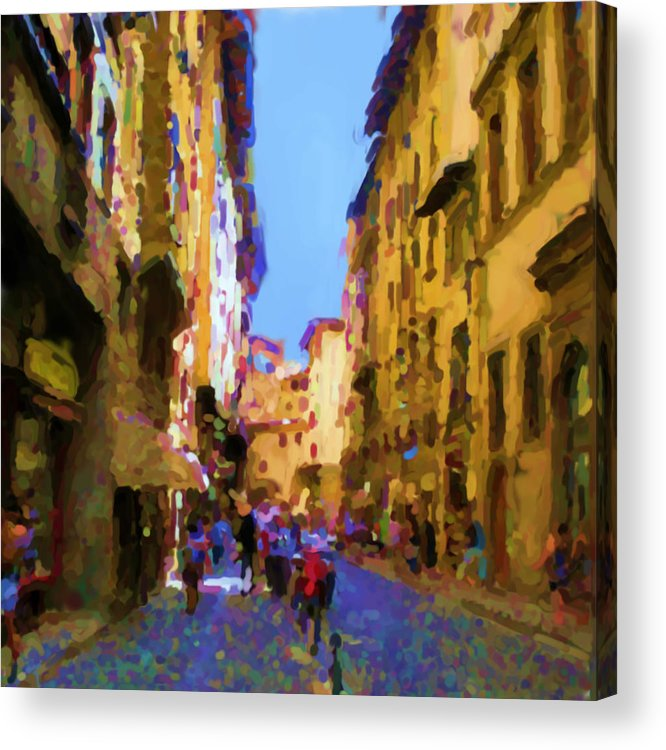 Florence Acrylic Print featuring the mixed media Florence by Asbjorn Lonvig