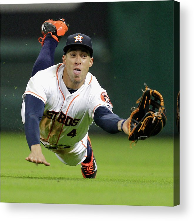 American League Baseball Acrylic Print featuring the photograph George Springer by Bob Levey