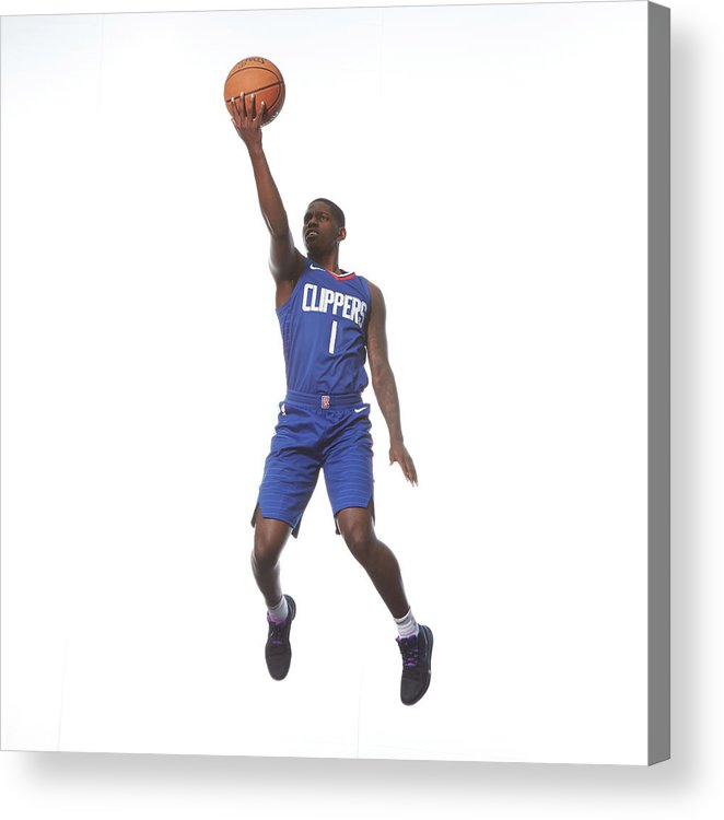 Nba Pro Basketball Acrylic Print featuring the photograph Jawun Evans by Nathaniel S. Butler
