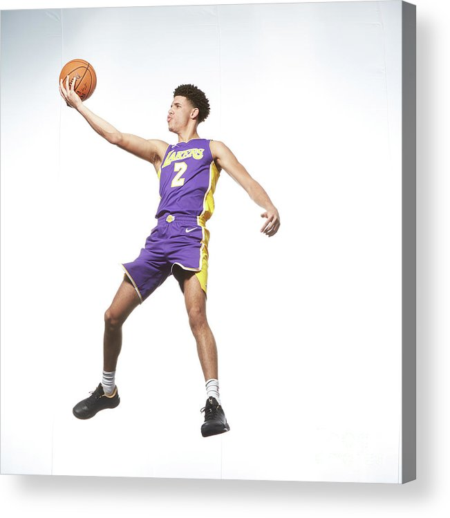 Nba Pro Basketball Acrylic Print featuring the photograph Lonzo Ball by Nathaniel S. Butler